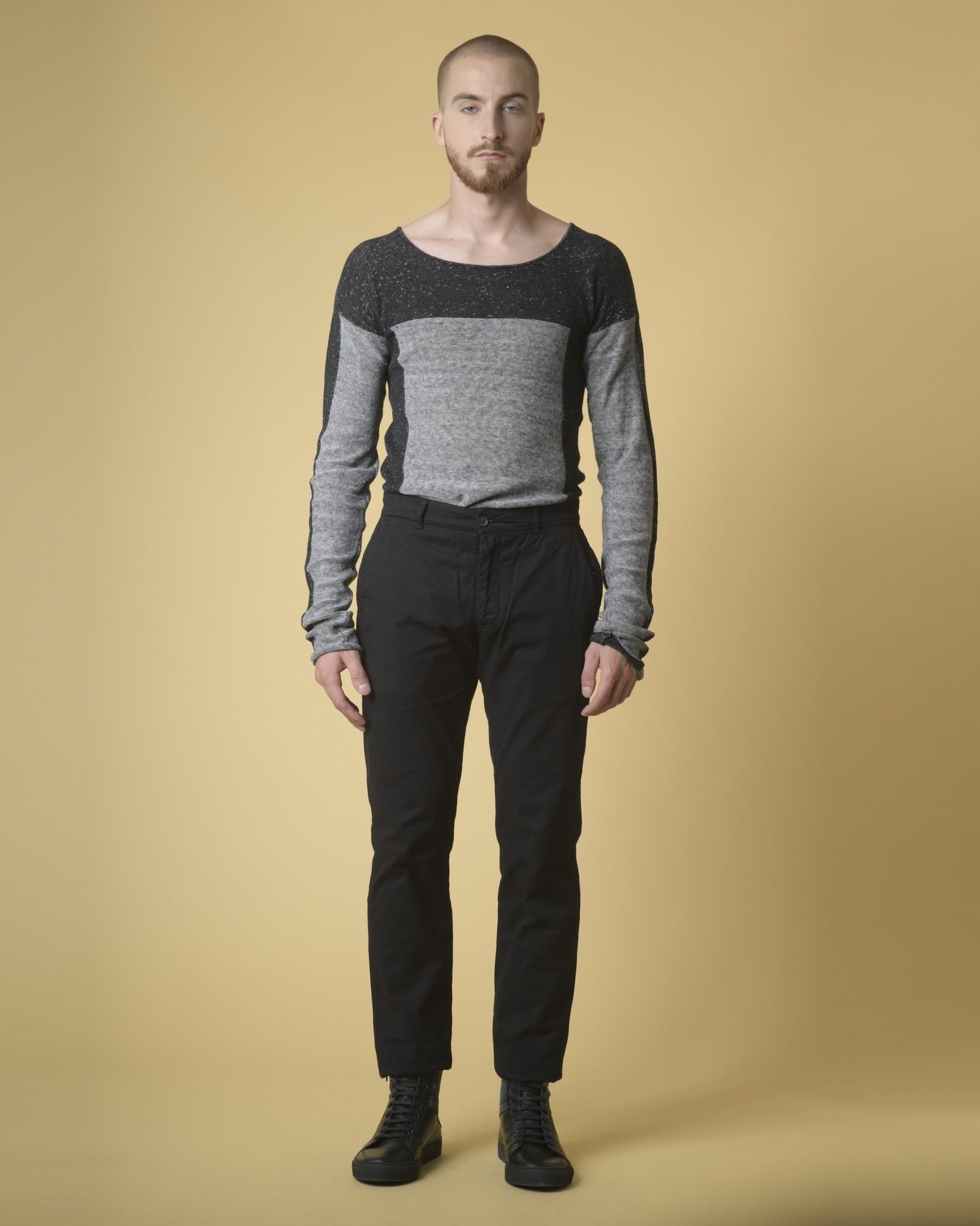 Pantalon en jean noir Marchand Drapier