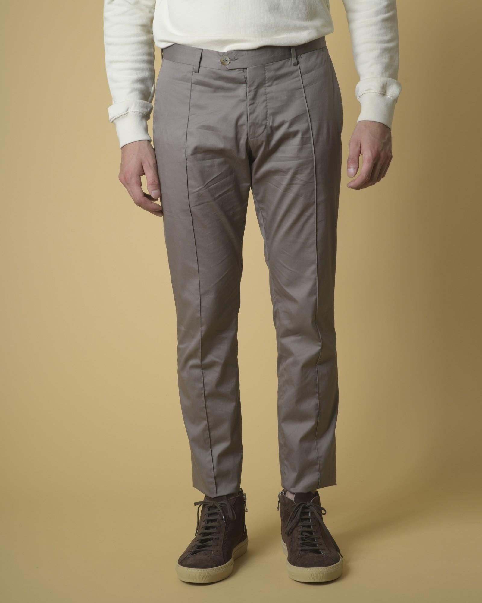 Pantalon en coton à plis Ly...
