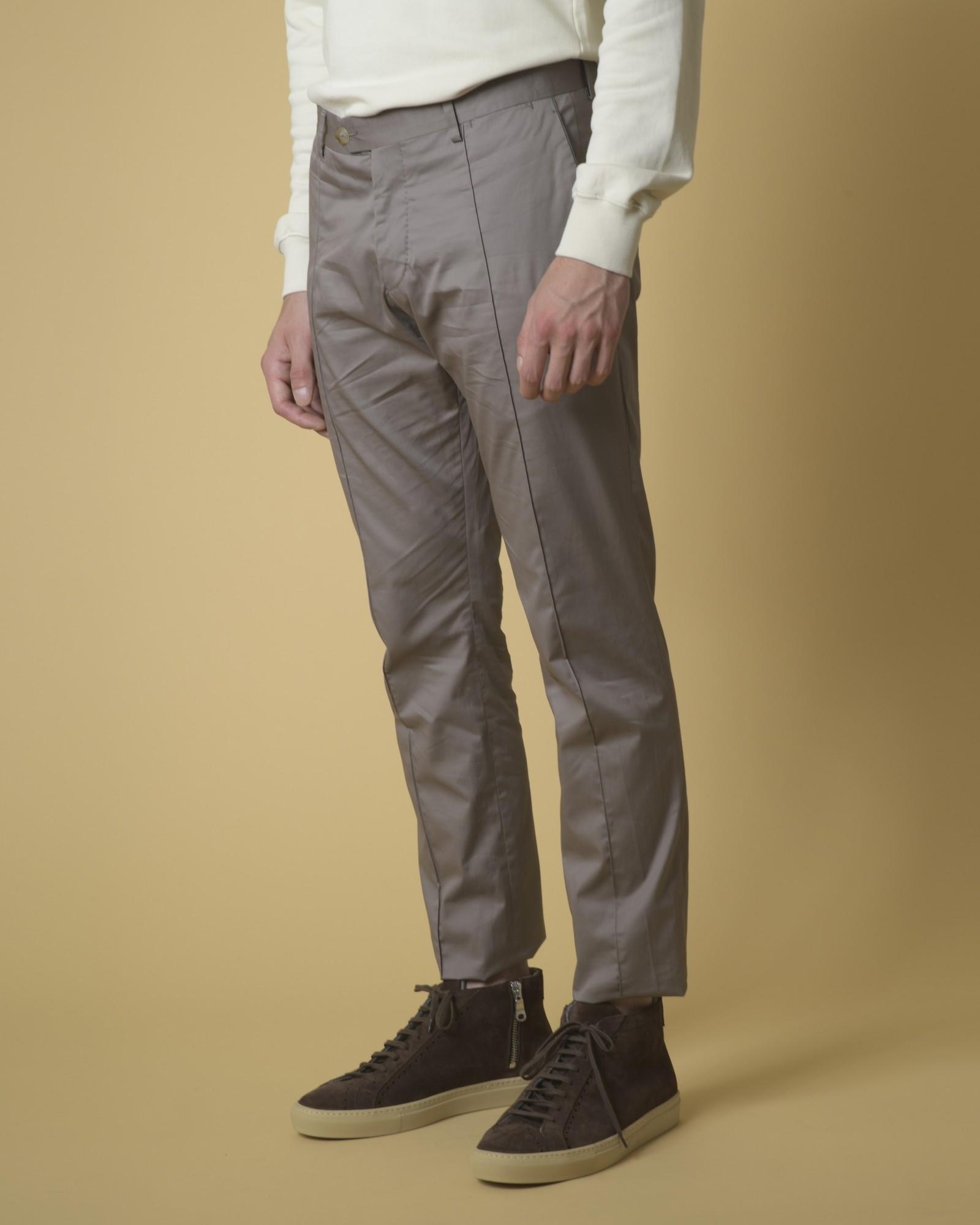 Pantalon en coton à plis Ly Adams Homme