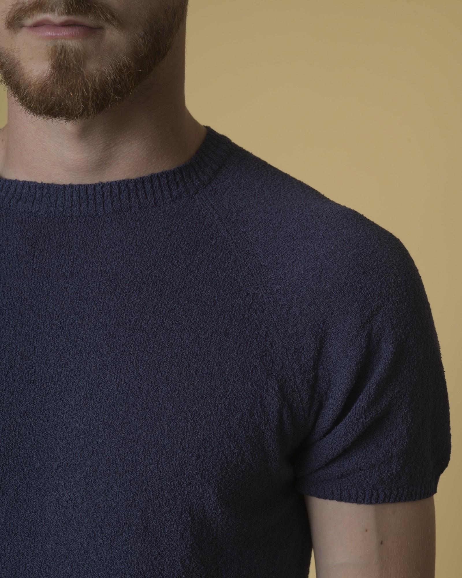 T-shirt en coton mélangé texturé Daniele Fiesoli