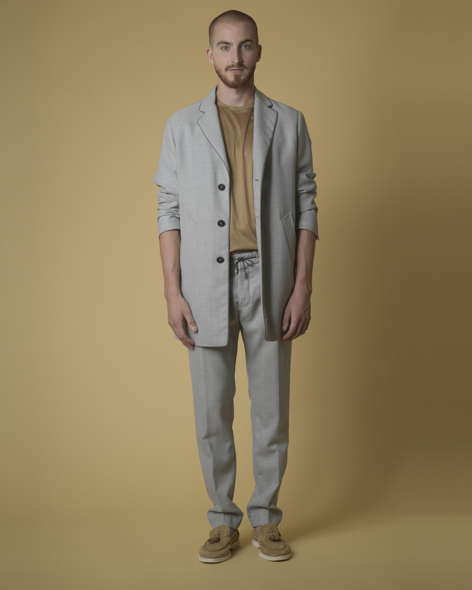 T-shirt coton doré col rond Daniele Fiesoli