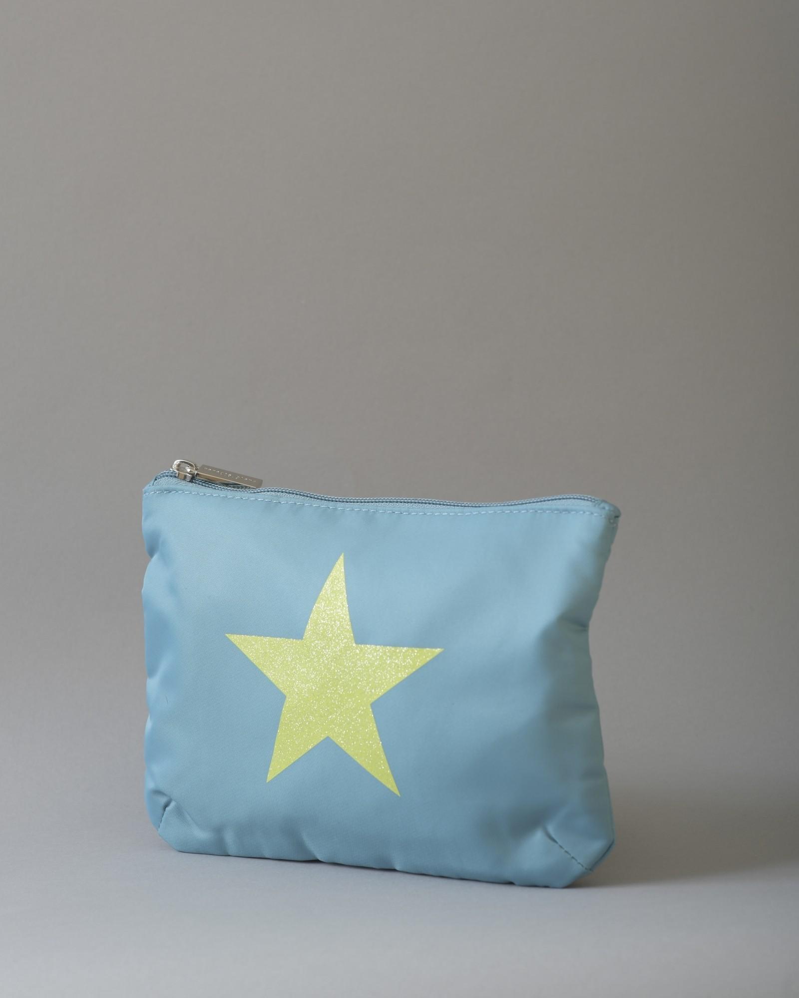 Pochette en tissu à imprimé étoile Paradis Blanc