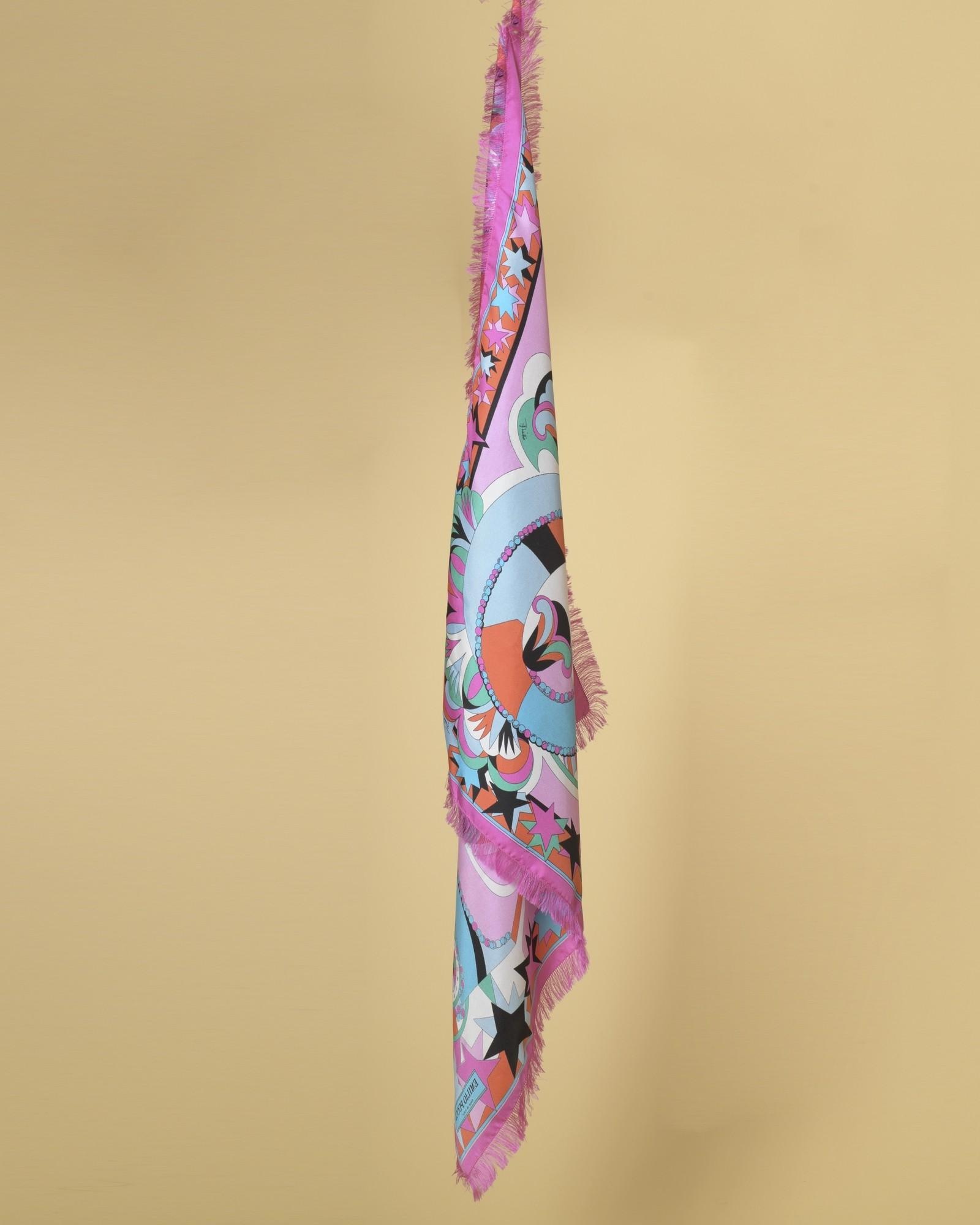 Foulard en sergé de soie imprimé festive Emilio Pucci