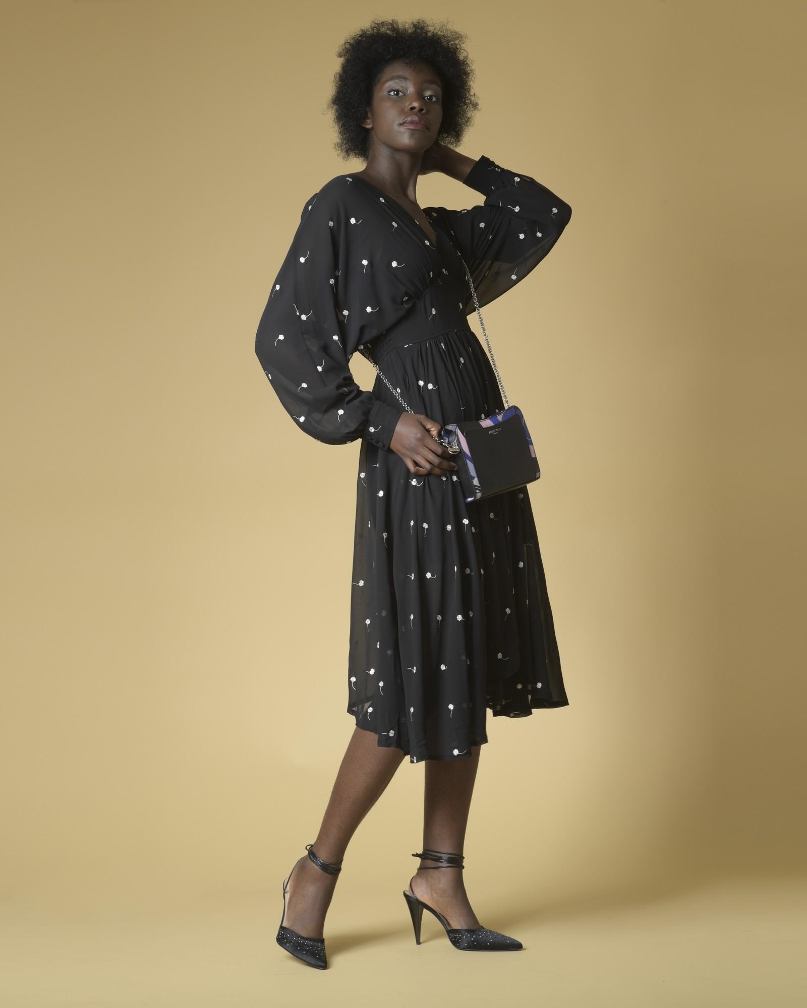 Sac porté épaule en cuir à imprimé Pucci Emilio Pucci