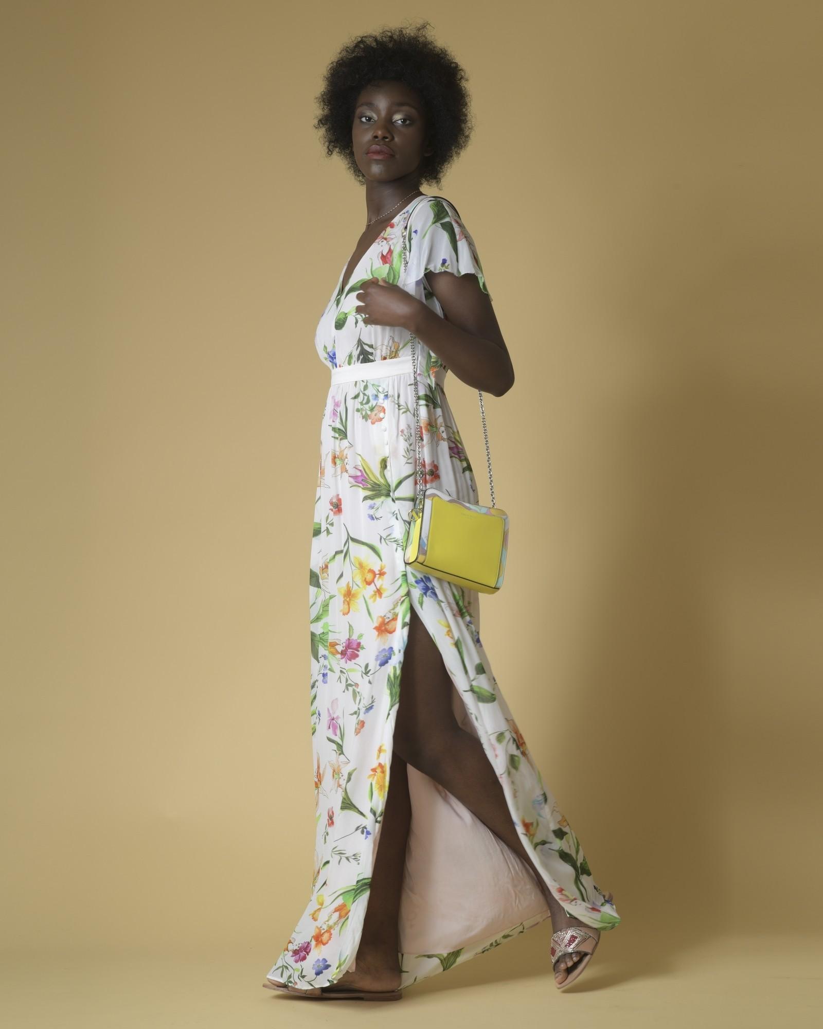 Sac porté épaule en cuir jaune à imprimé Pucci Emilio Pucci