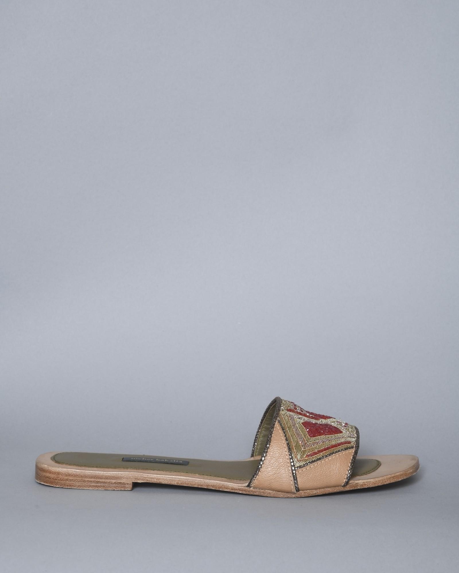 Sandales en cuir avec...