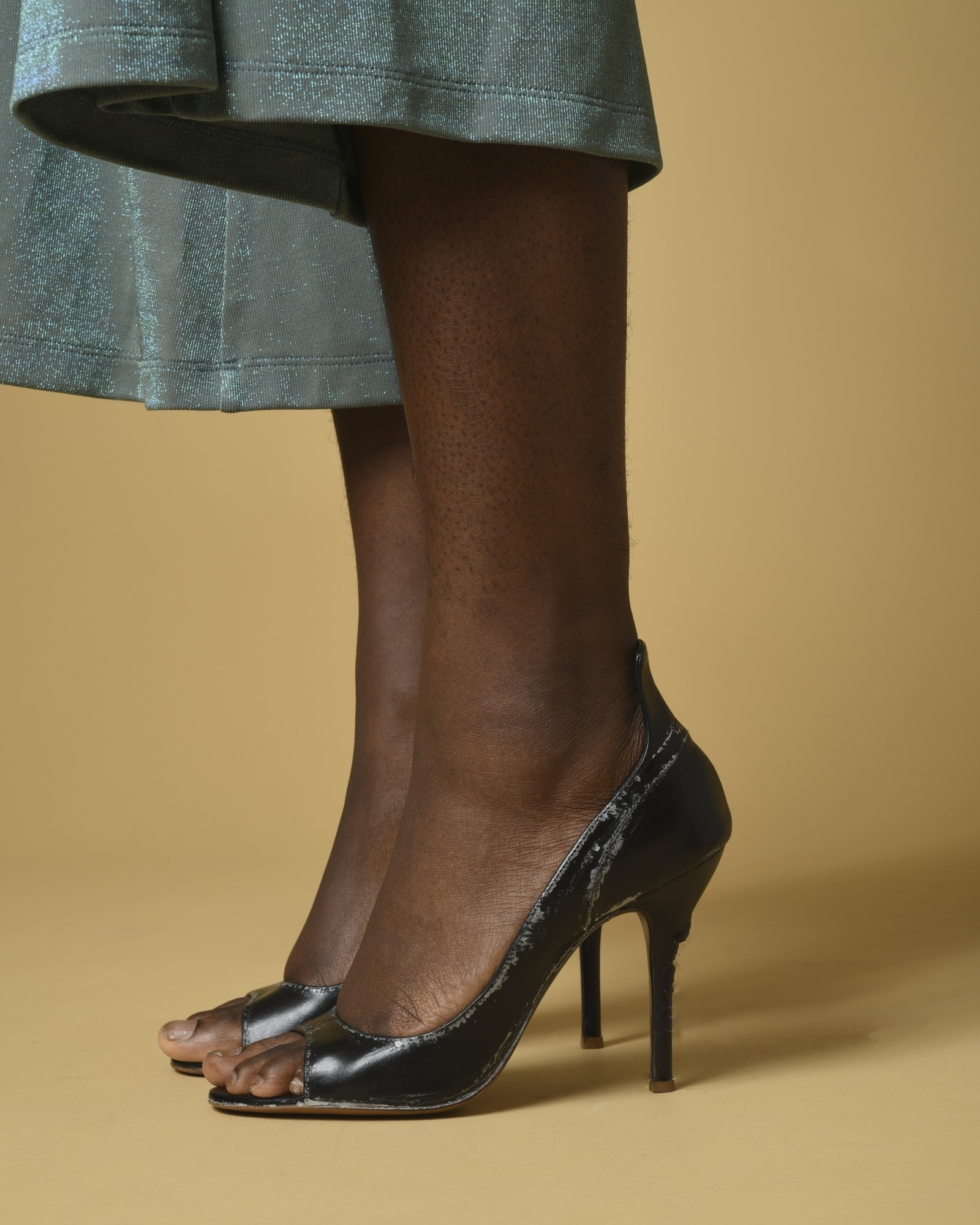 Sandales en cuir effet tâché Premiata