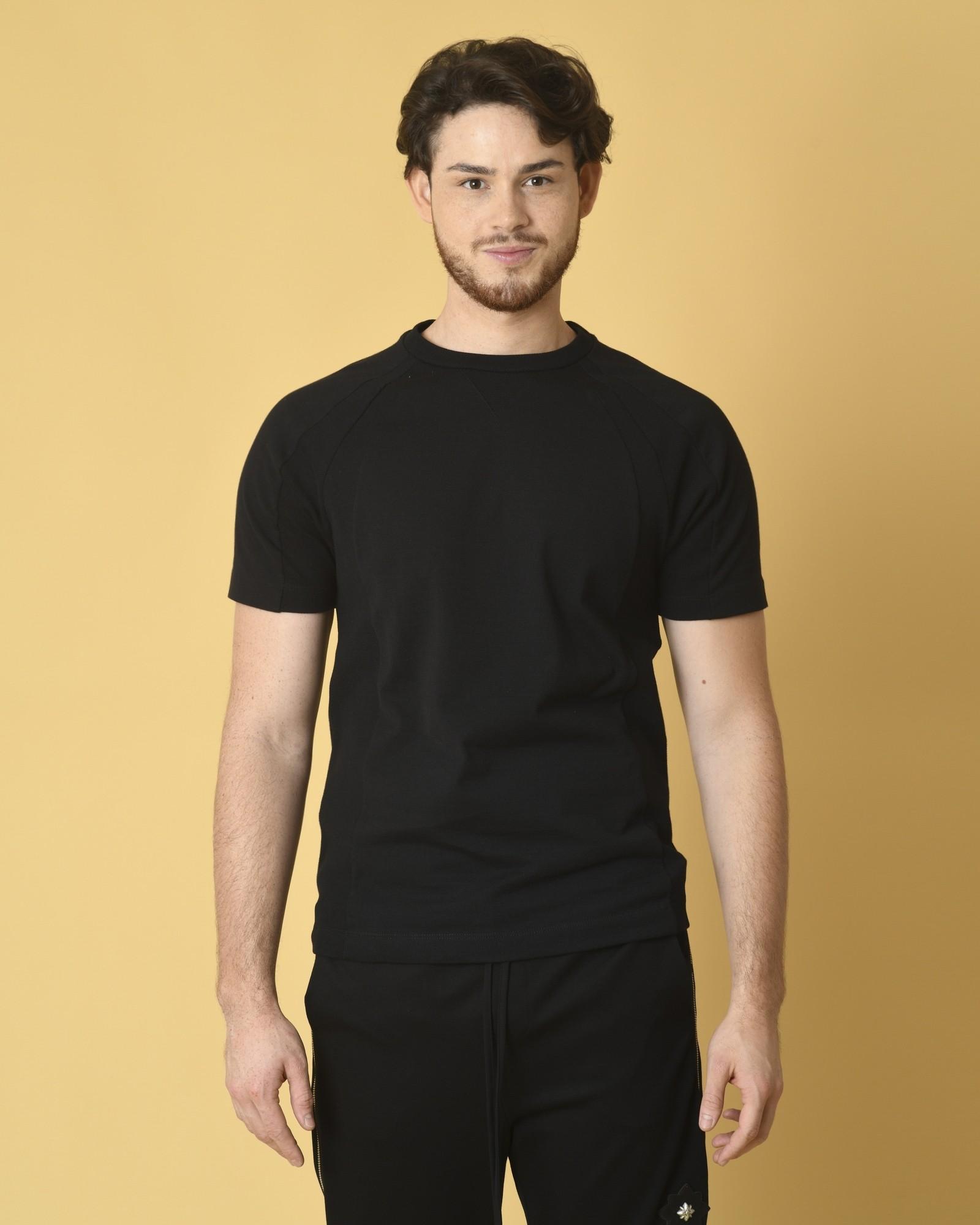 T-shirt en coton noir...