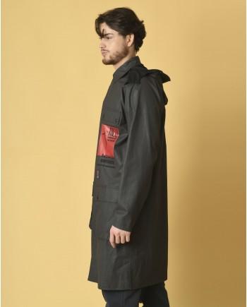 Manteau en tissu technique appliqué oversize Alexander McQueen