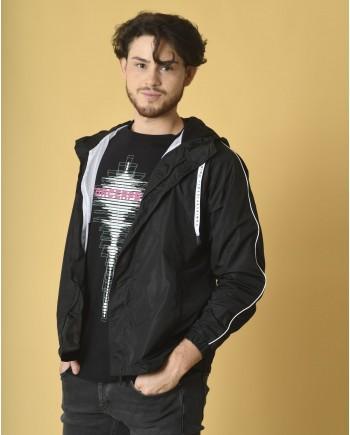Veste en tissu technique à capuche Daniele Fiesoli