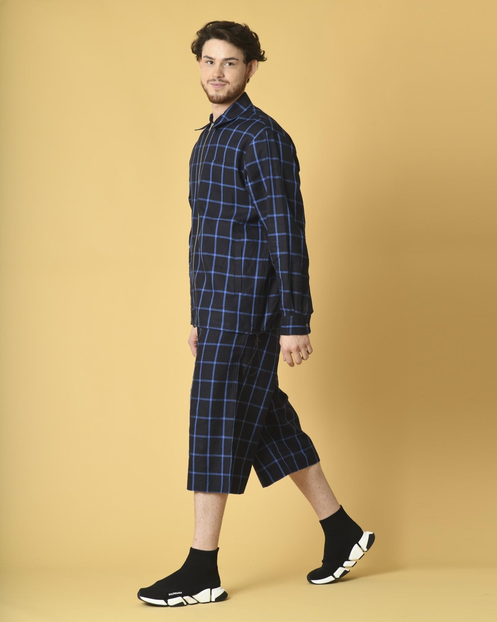 Veste-chemise à carreaux oversize Alexander McQueen
