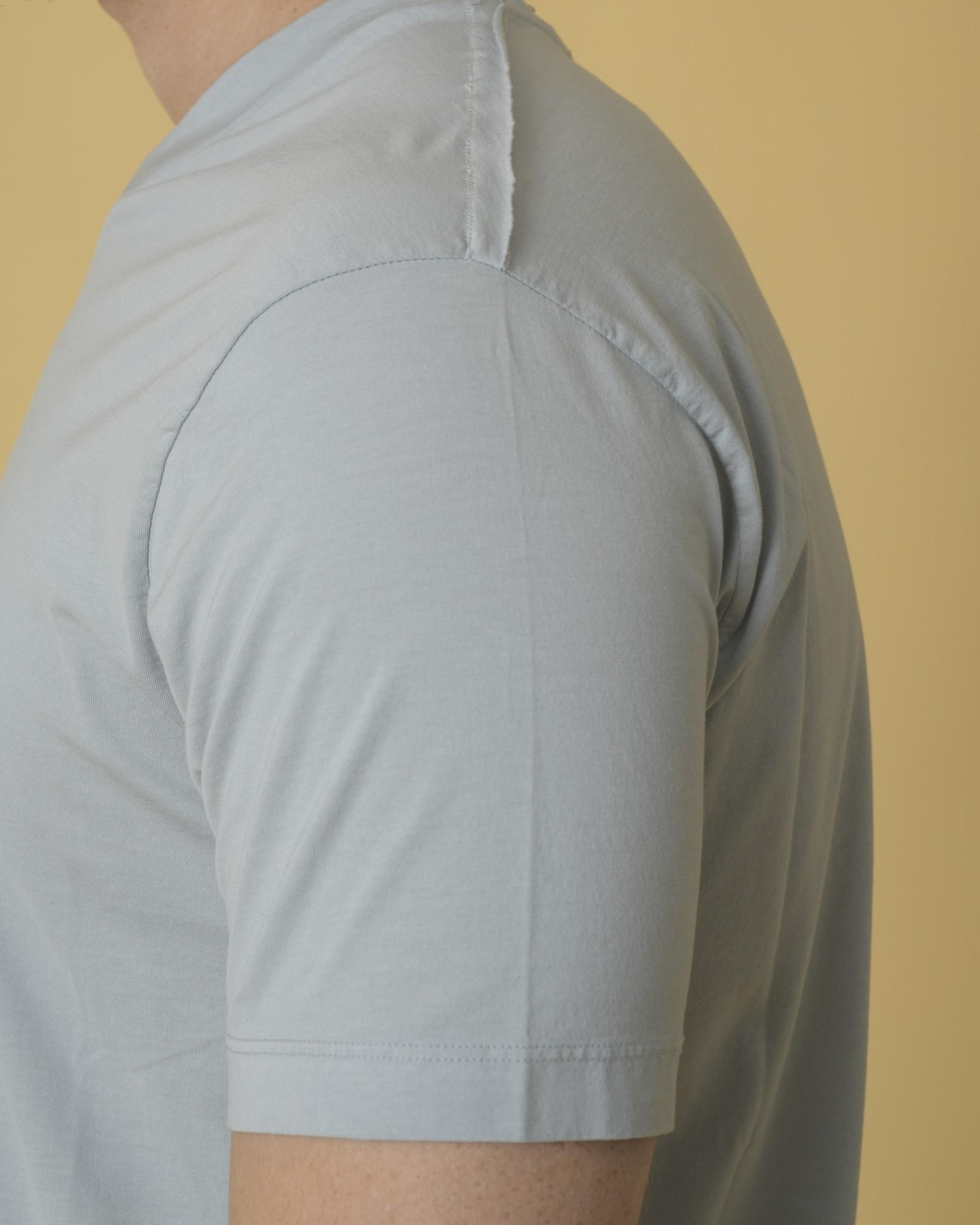 T-shirt en jersey de coton à col V Daniele Fiesoli