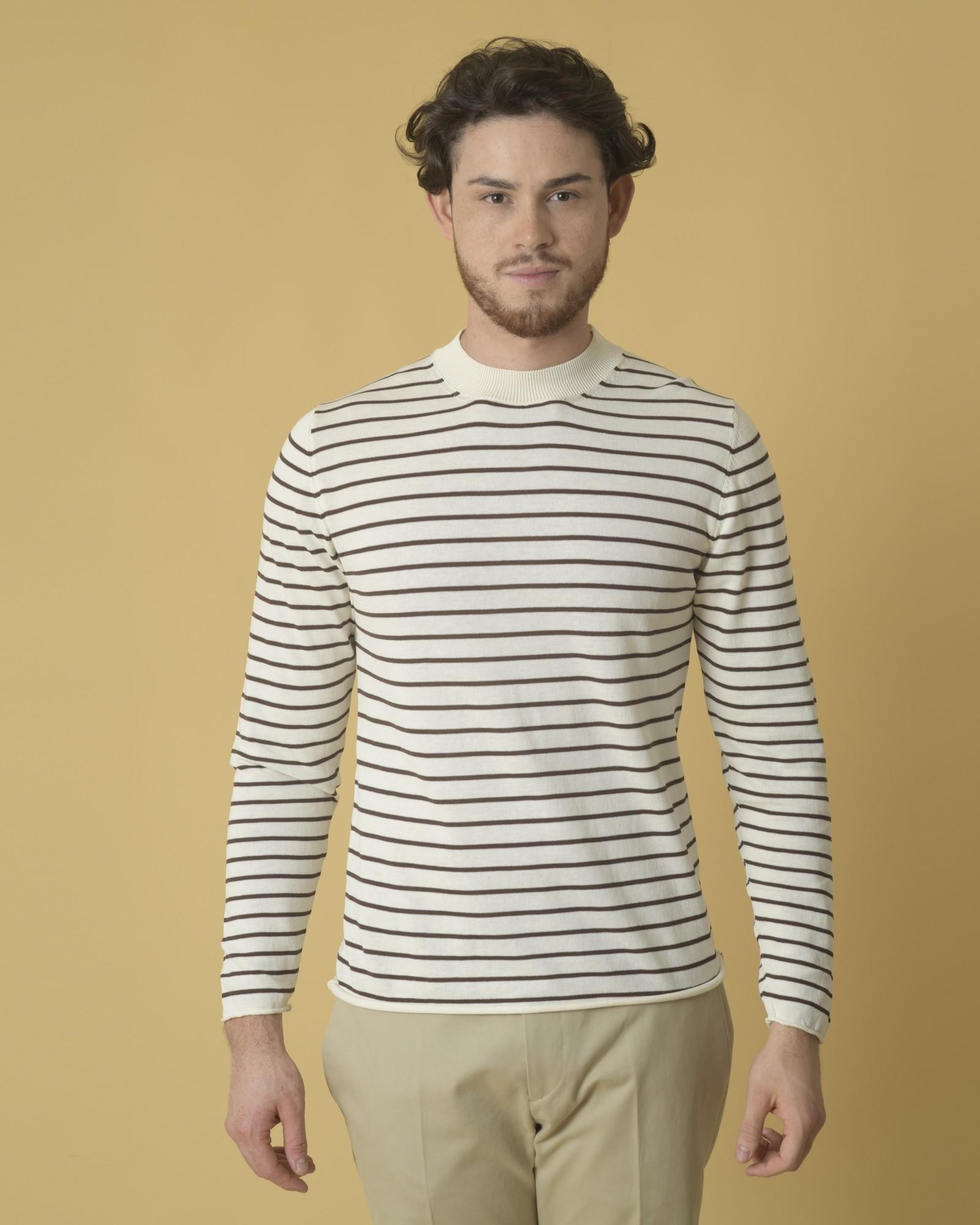Pull en coton à motif rayures Daniele Fiesoli