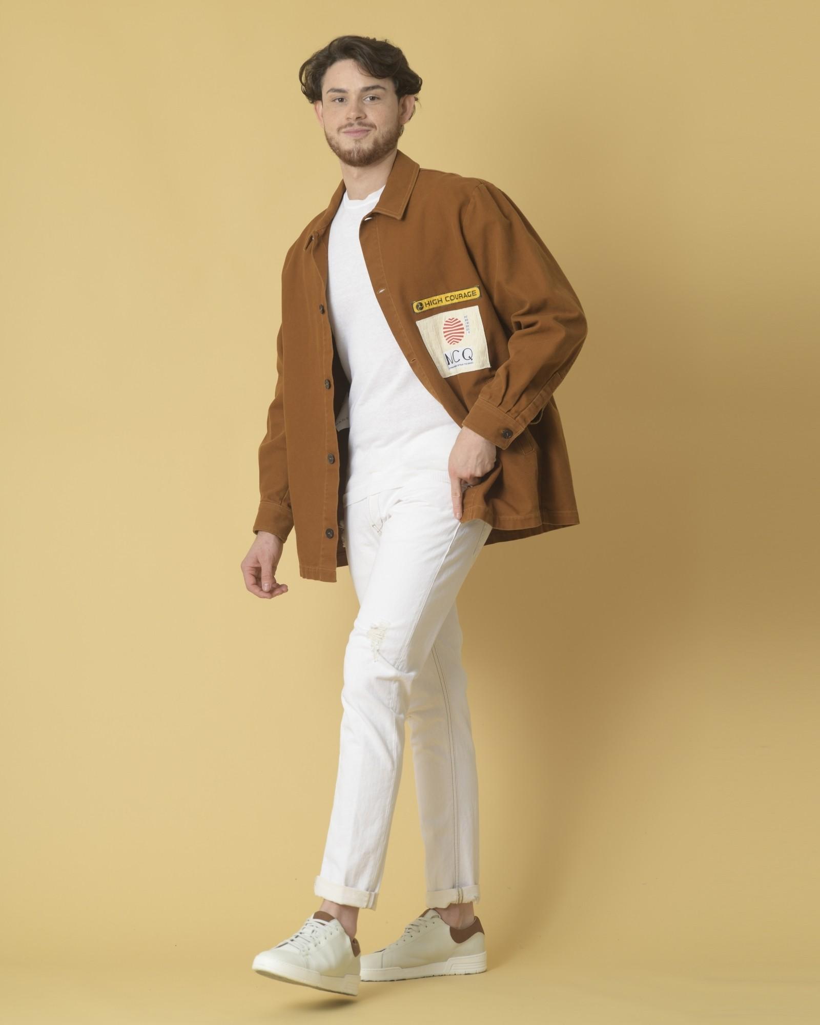 Veste en jean à empiècements Alexander McQueen