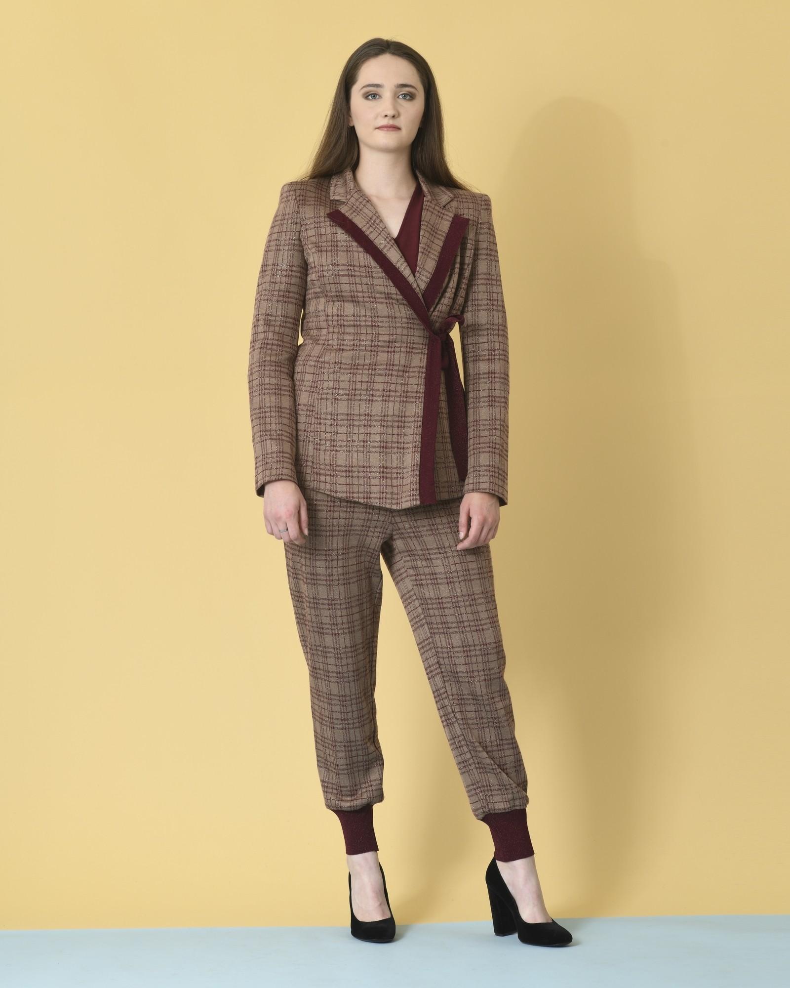 Pantalon de survêtement à motif carreaux multicolores Space Simona Corsellini