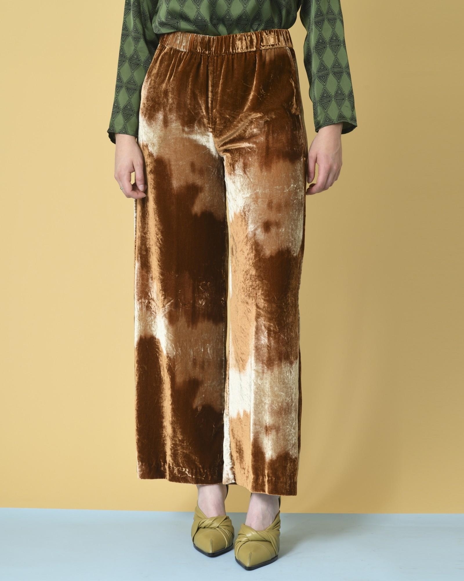 Pantalon en velours à effet...