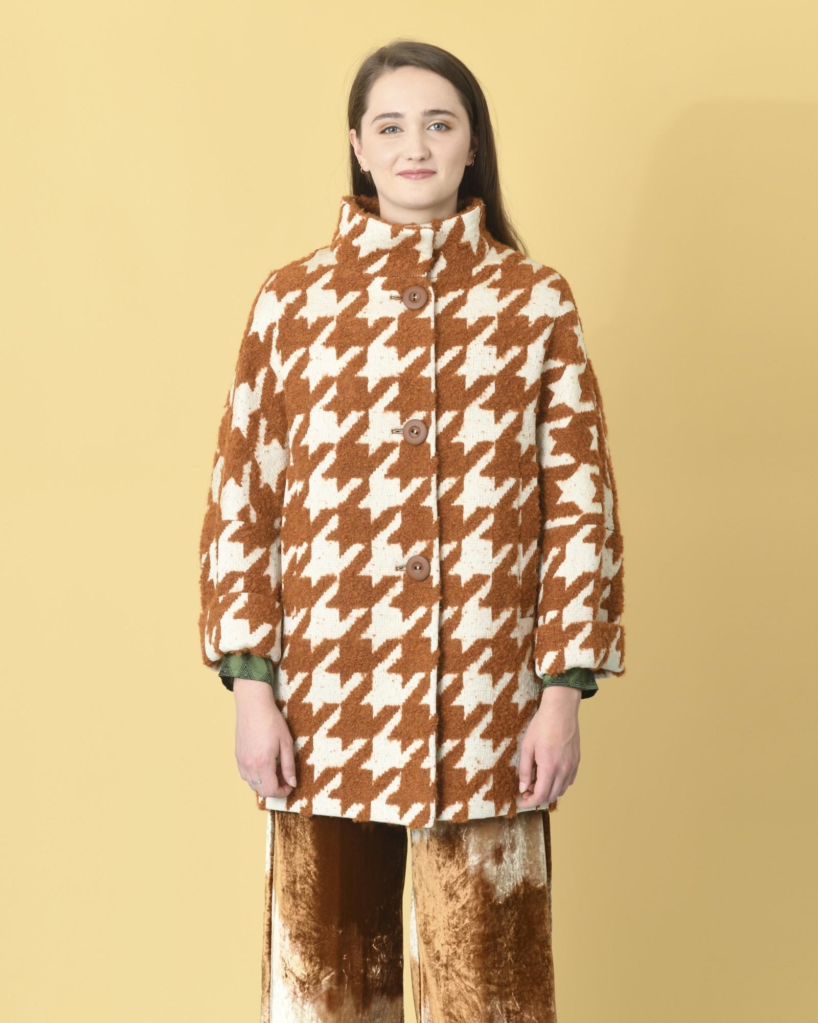 Manteau en laine mélangé...