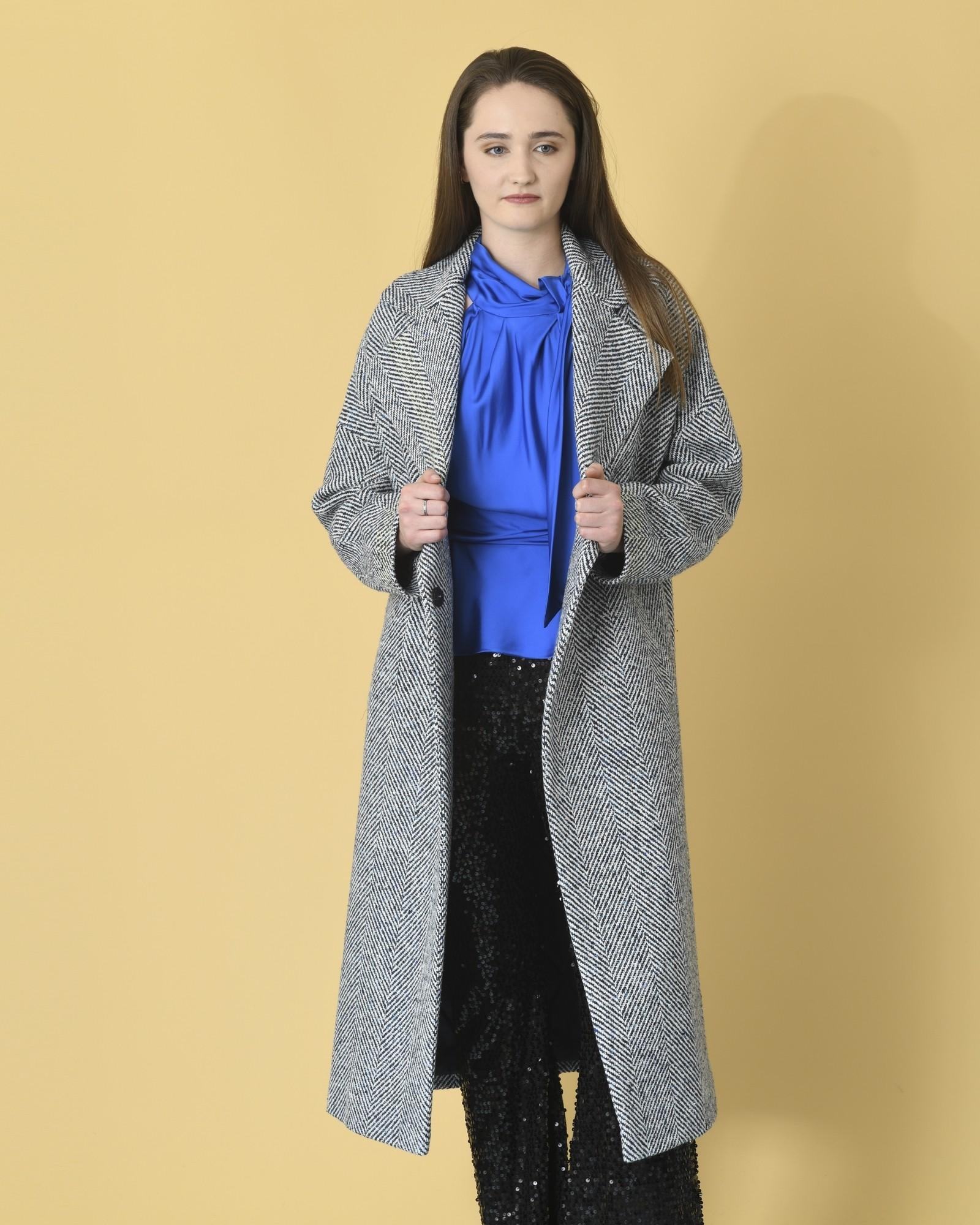 Manteau en laine mélangé à...
