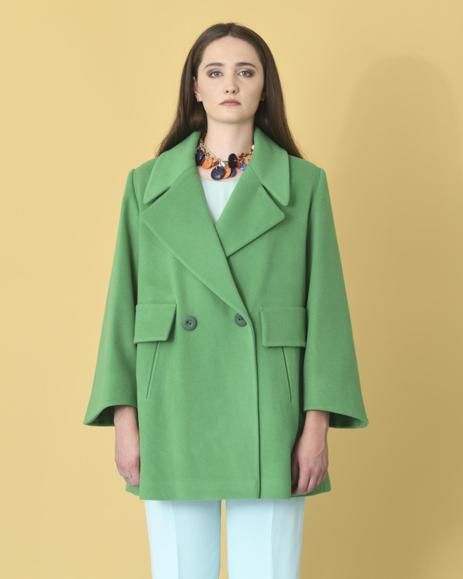 Manteau en laine et...