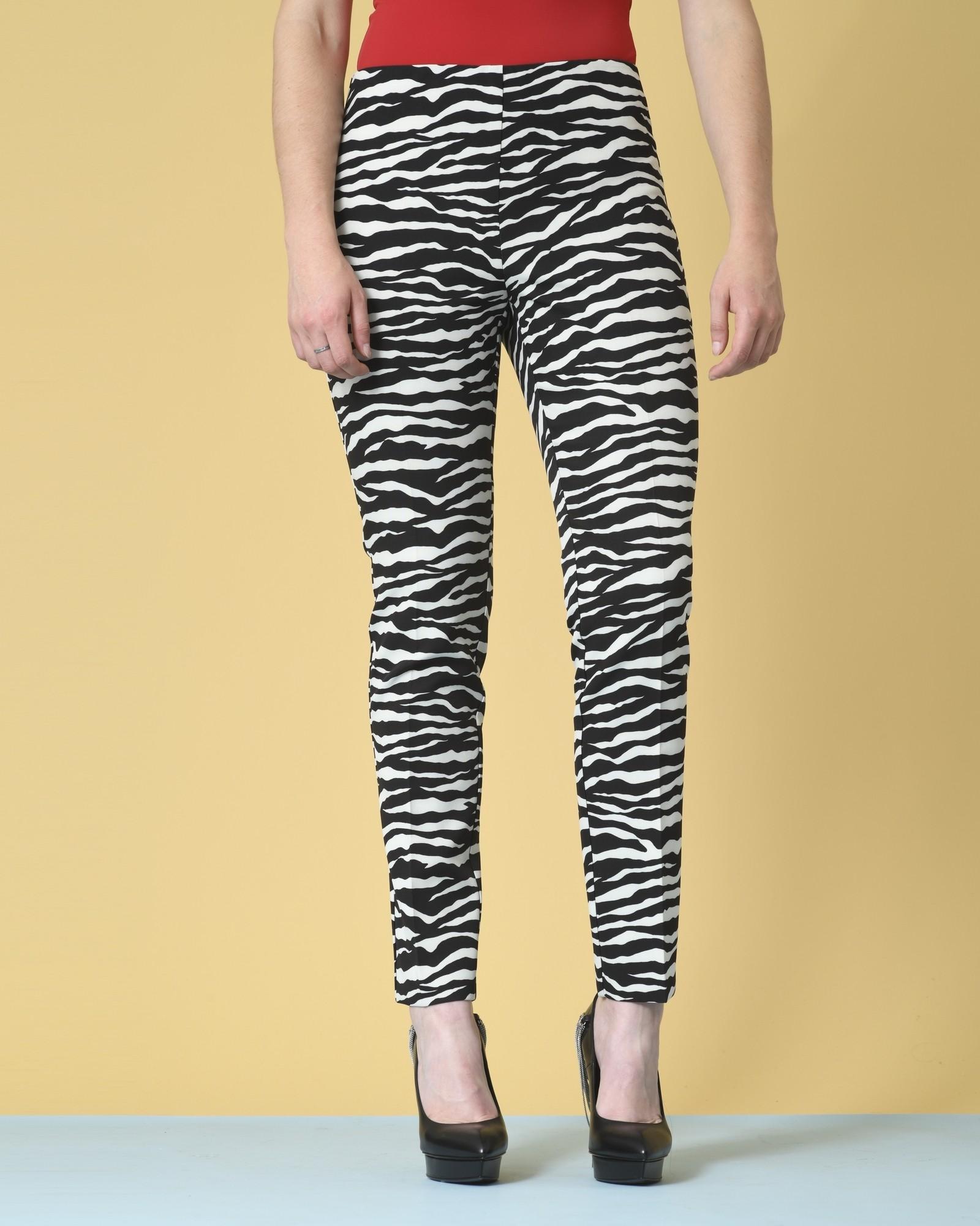 Pantalon slim à imprimé...