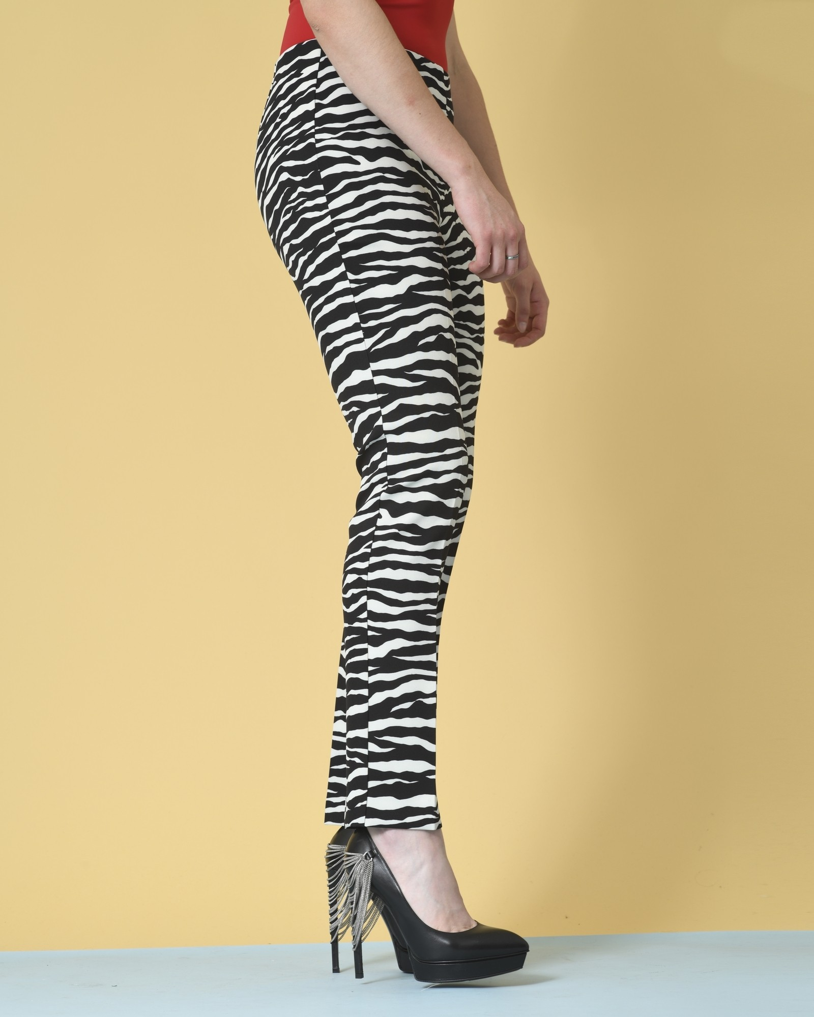 Pantalon slim à imprimé zèbre P.A.R.O.S.H