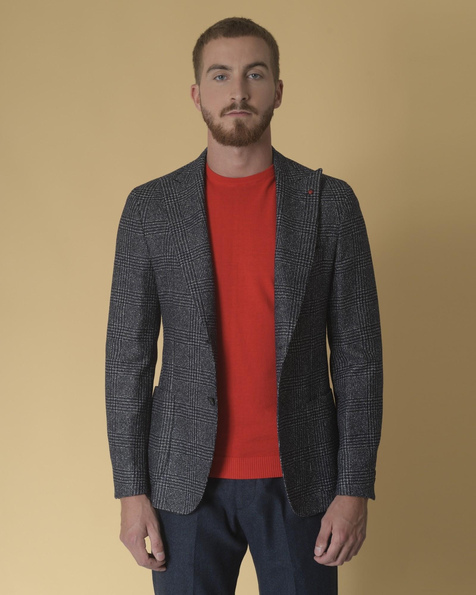 Veste en laine mélangée à carreaux Fugàto