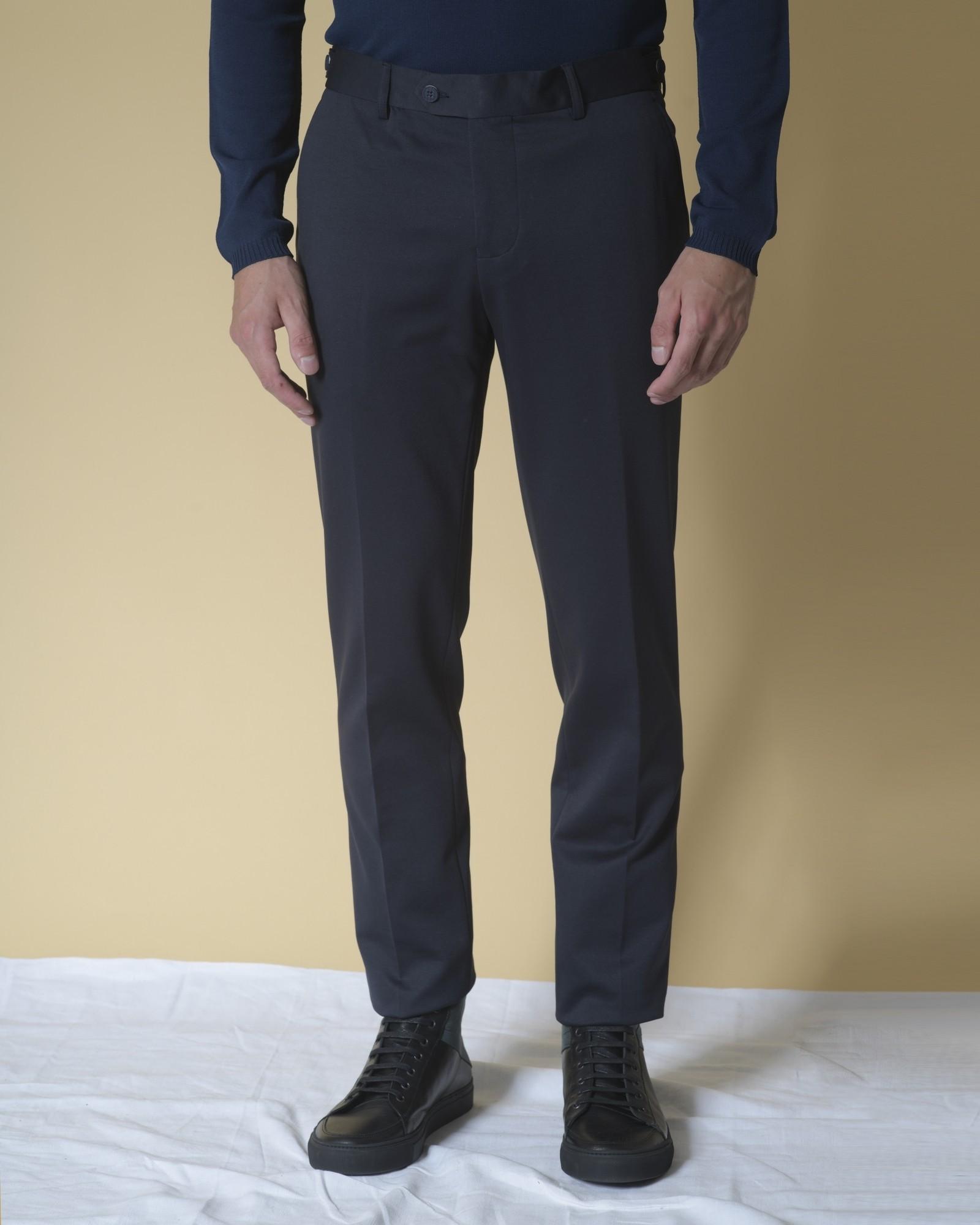 Pantalon droit en coton...