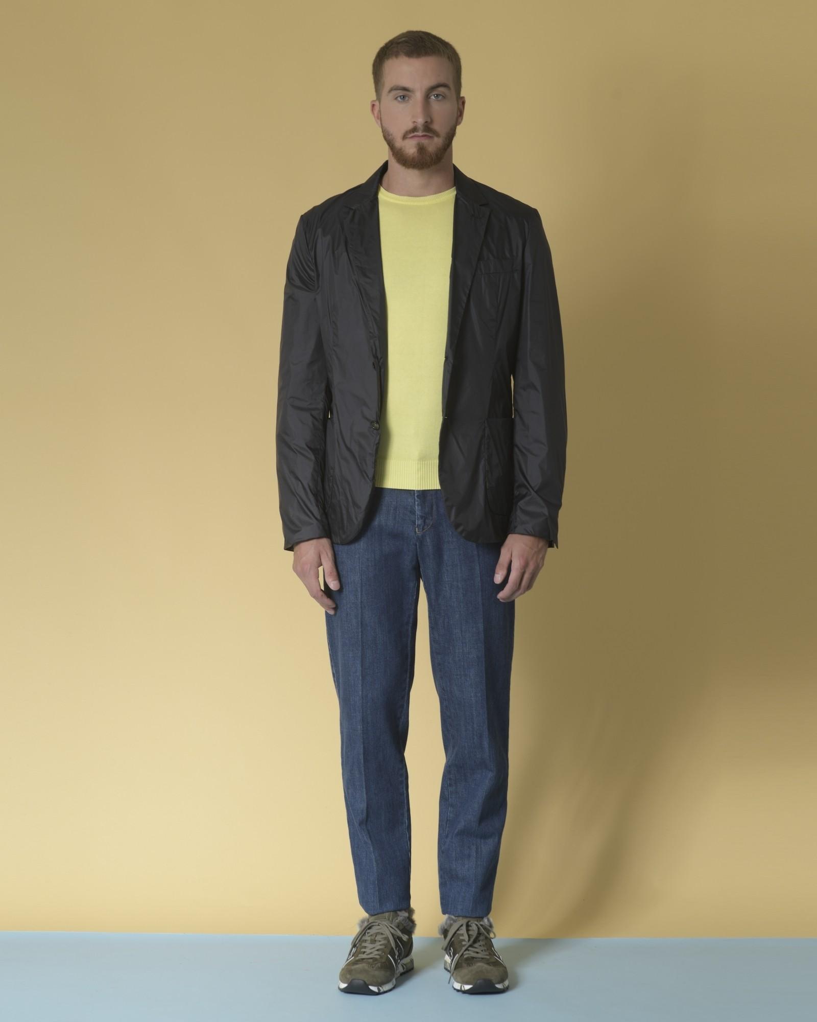 Pull en jersey de coton jaune Daniele Fiesoli