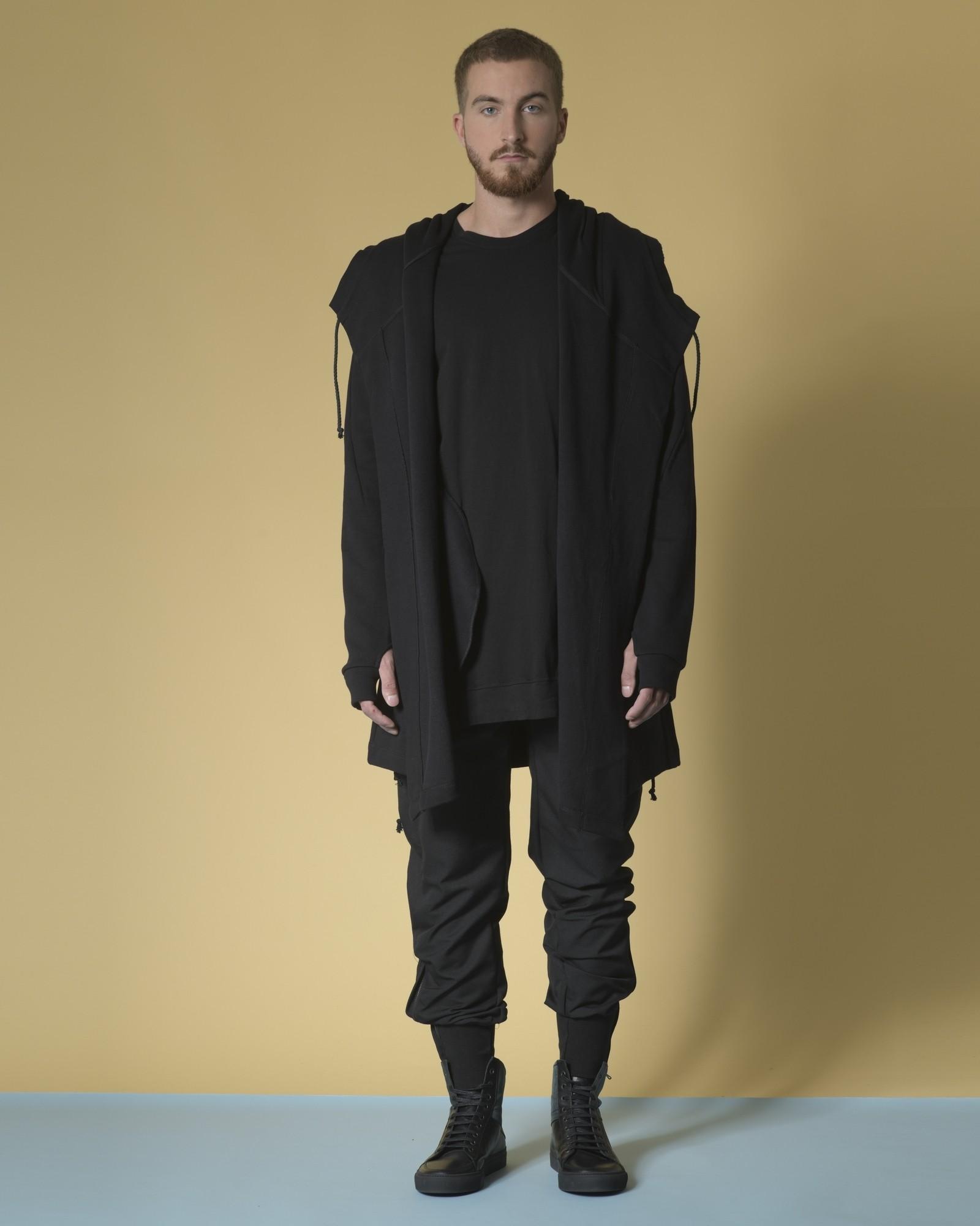 T-shirt long en coton asymétrique Lost & Found