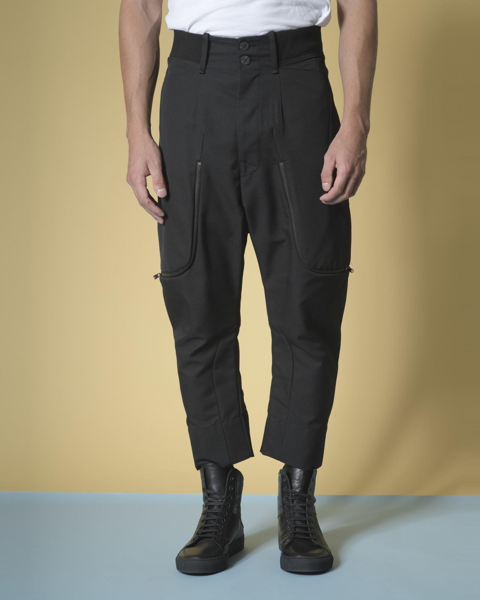 Pantalon sarouel en coton à...