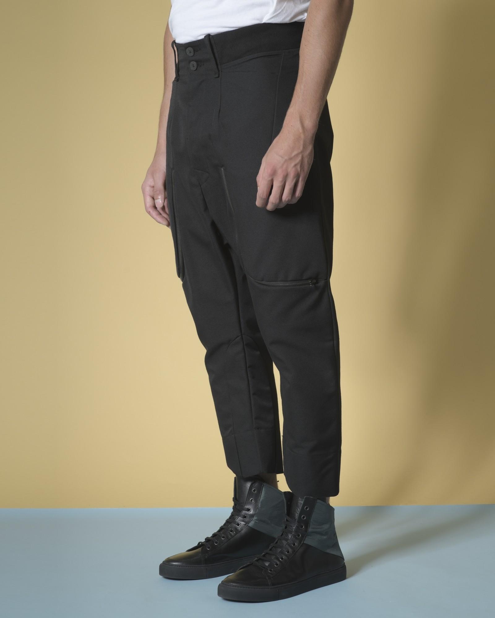 Pantalon sarouel en coton à zip Lost & Found