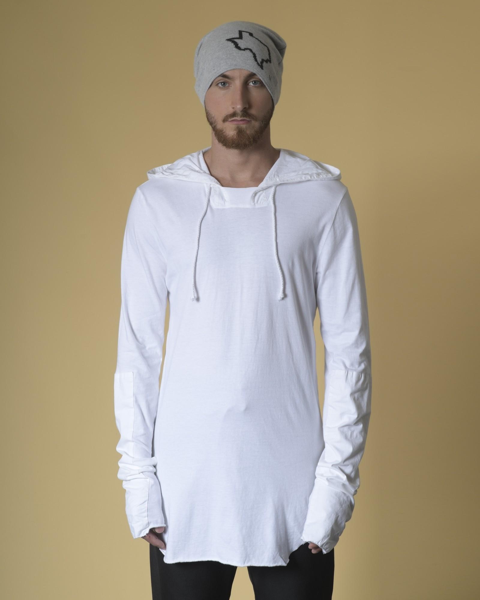T-shirt en coton à capuche...