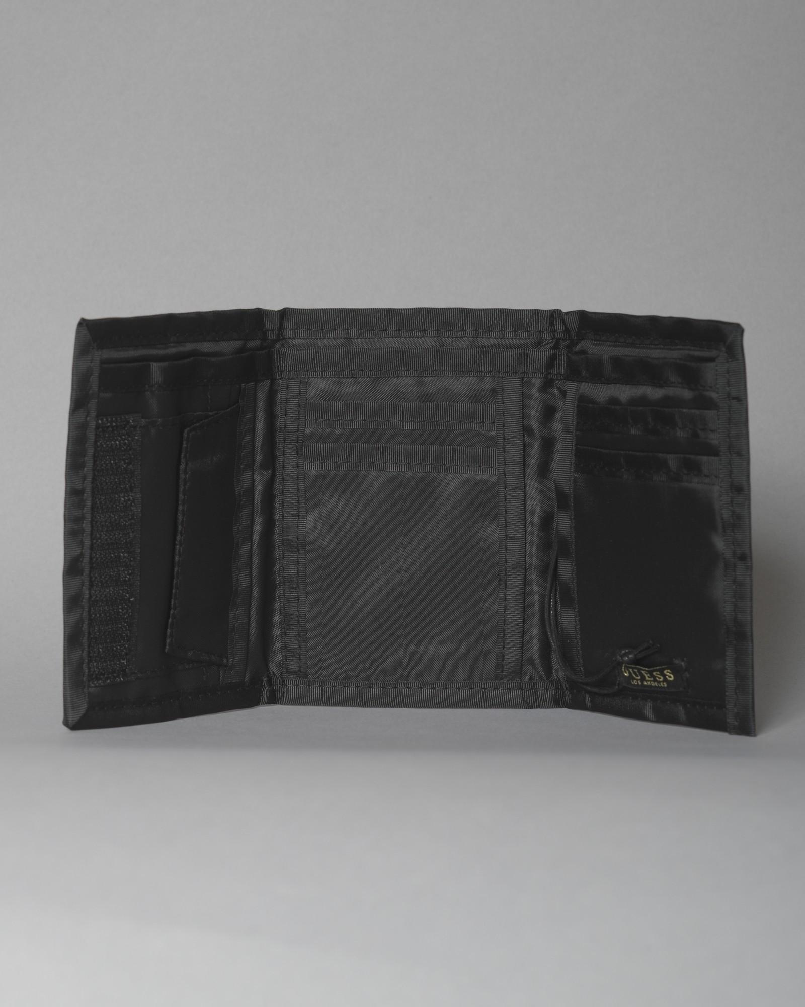 Portefeuille en toile à logo Guess