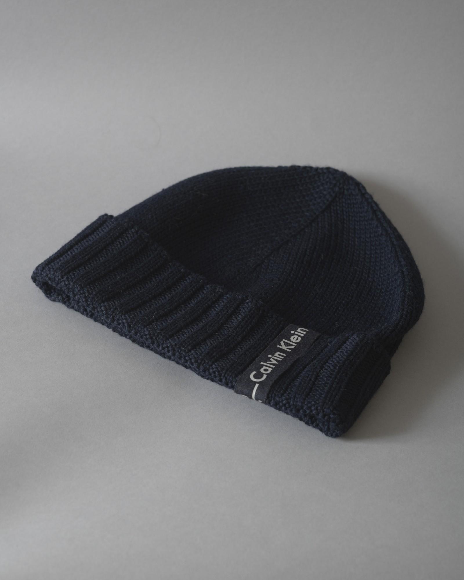 Bonnet en laine côtelée Calvin Klein
