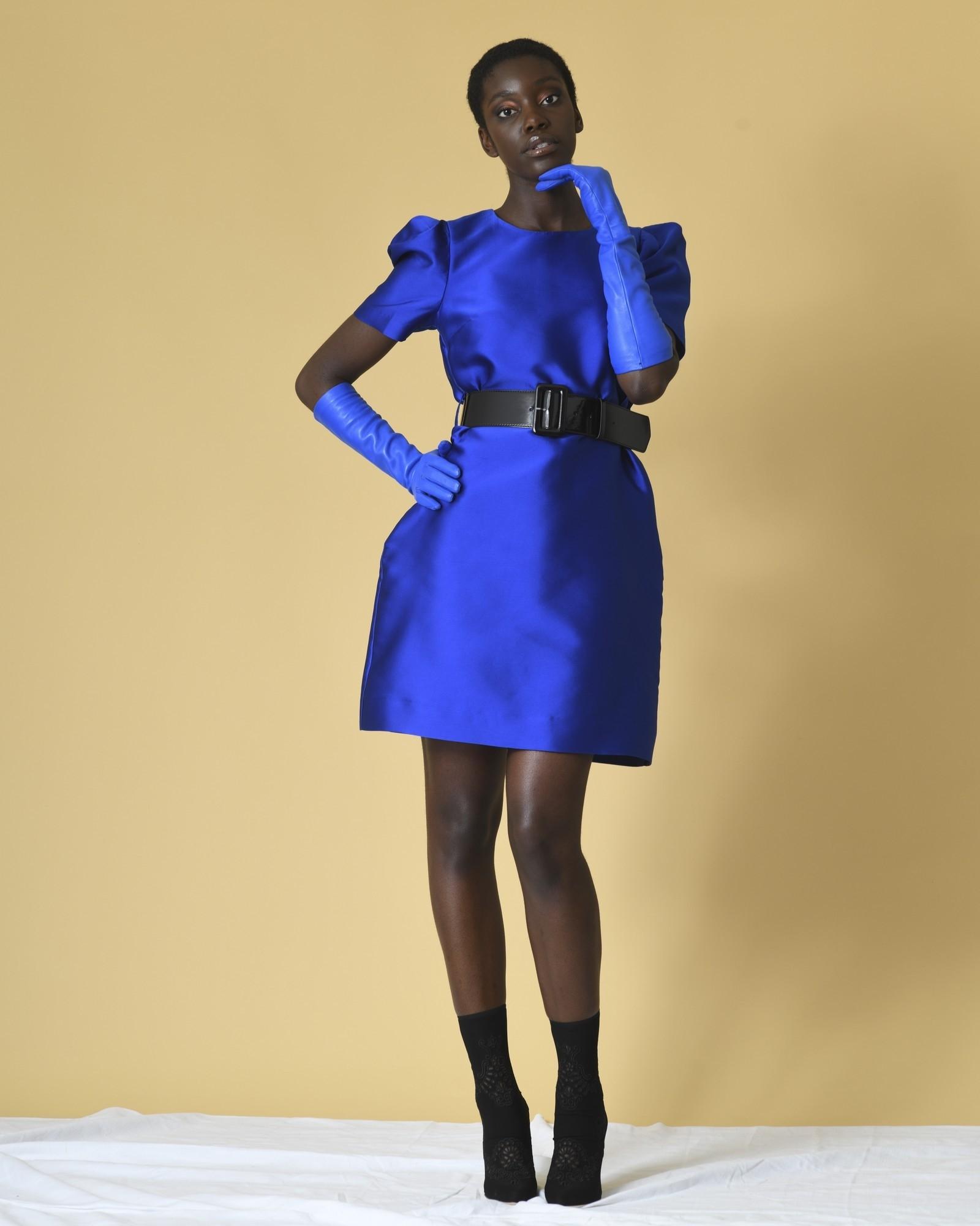 Robe bleue à ceinture P.A.R.O.S.H