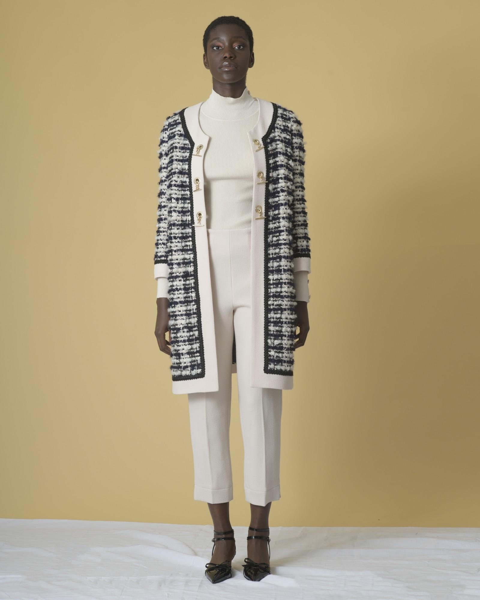 Pantalon skinny raccourci en laine mélangée Edward Achour