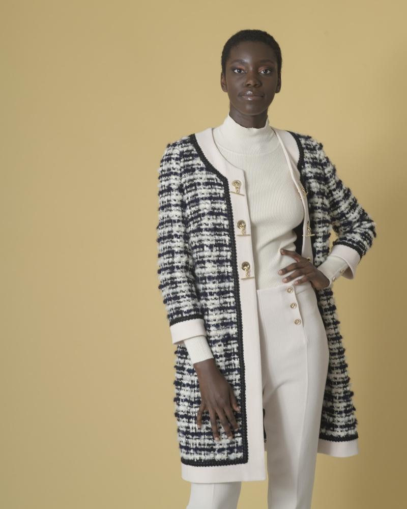 Veste en tweed à boutons dorés Edward Achour