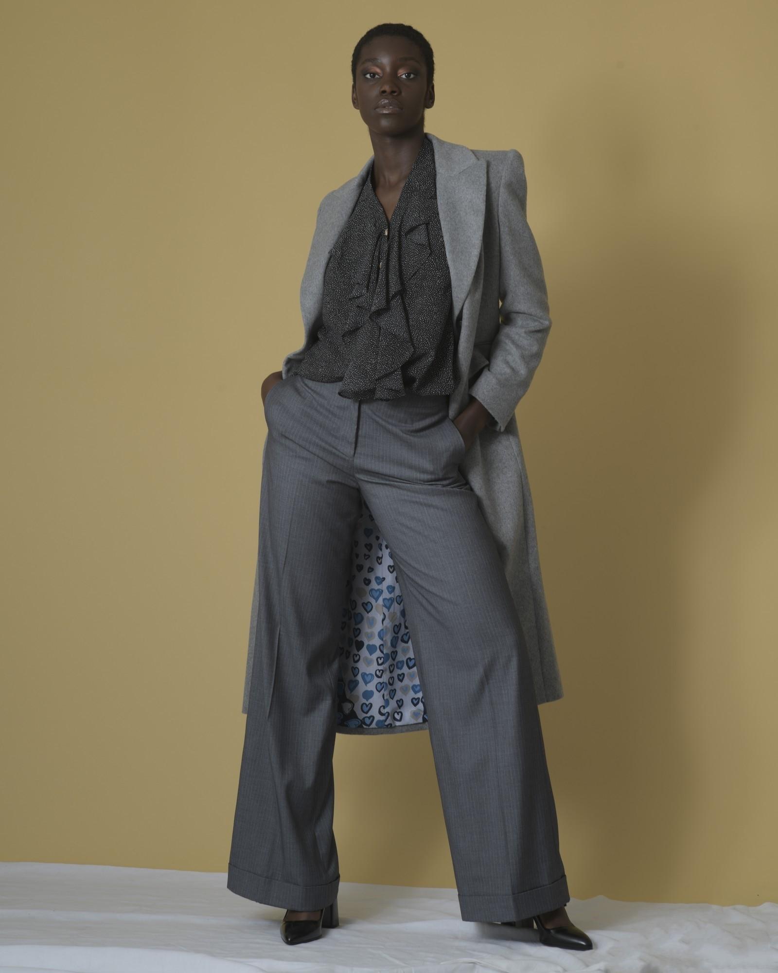 Pantalon large à rayures Edward Achour