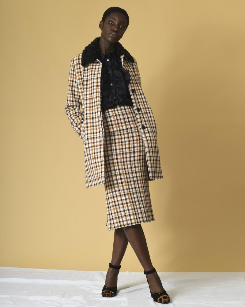 Manteau en coton à carreaux  Alexander McQueen