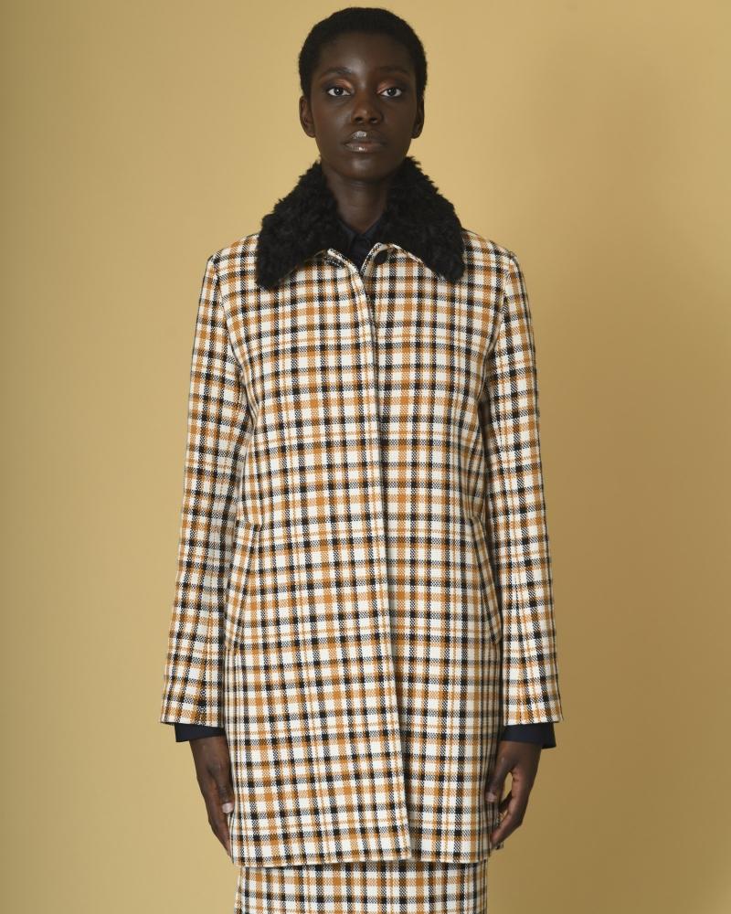 Manteau en coton à carreaux...