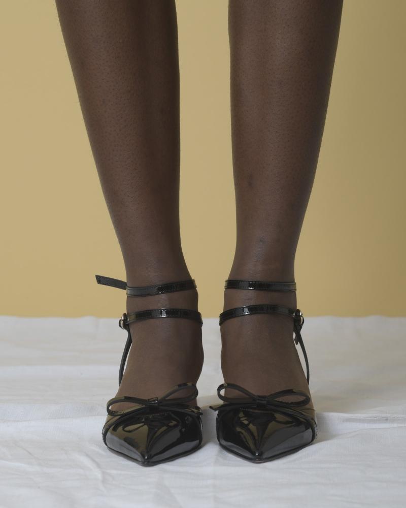 Escarpins en cuir verni à lacets Red Valentino