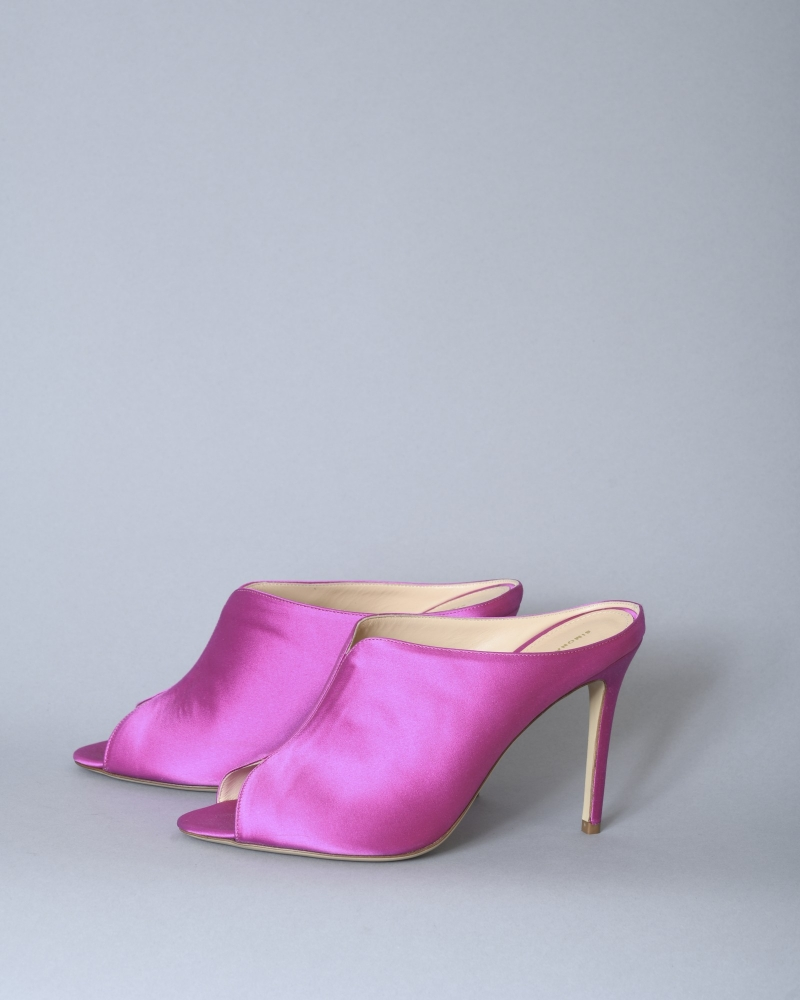Sandales satinées à talon Space Simona Corsellini
