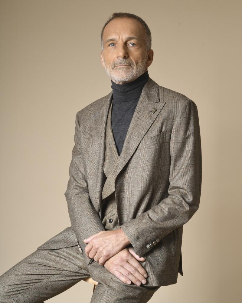 Costume 3 pièces en laine à motifs à carreaux Gabriele Pasini