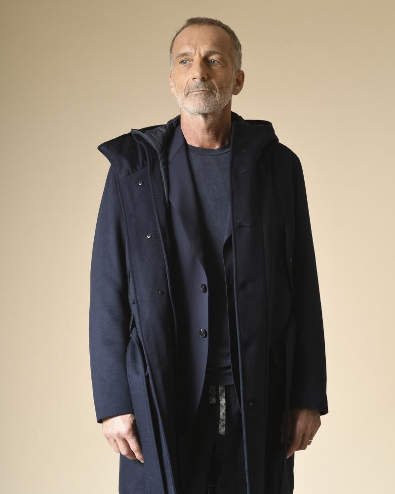 Manteau en laine à empiècements amovibles Corneliani