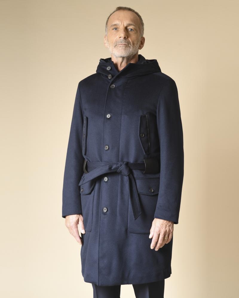 Manteau en laine à...