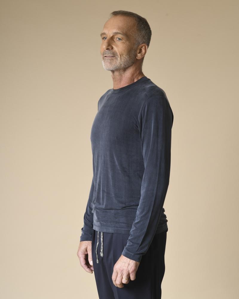 T-shirt bleu manches...