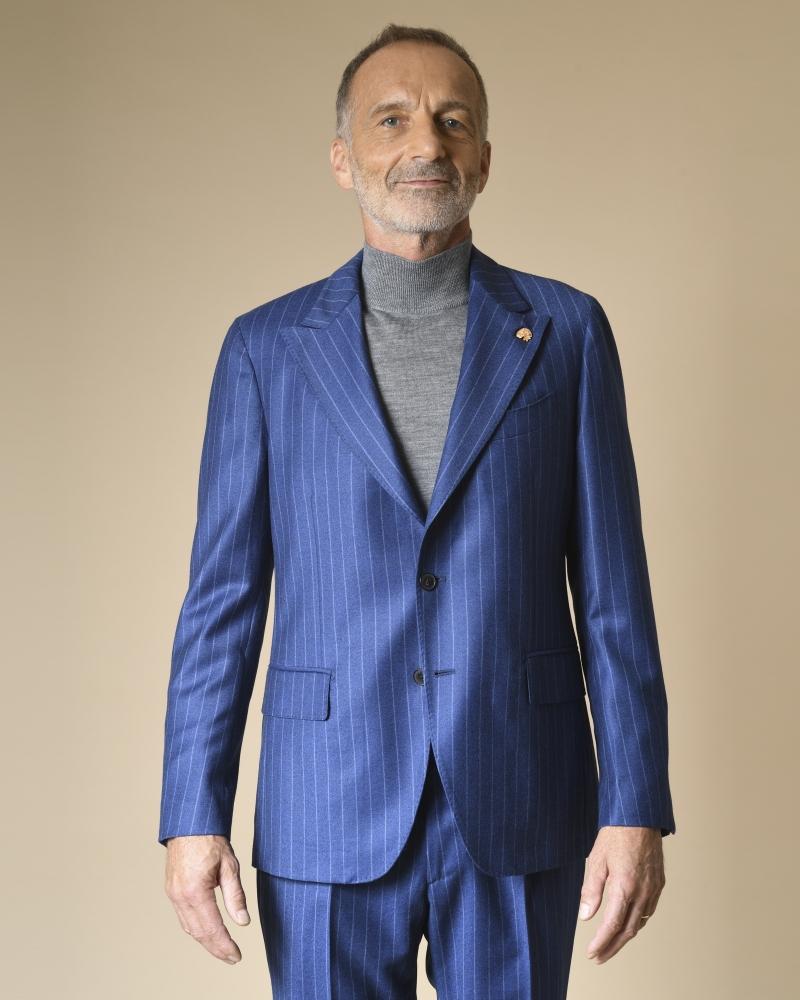 Costume en laine à rayures Gabriele Pasini
