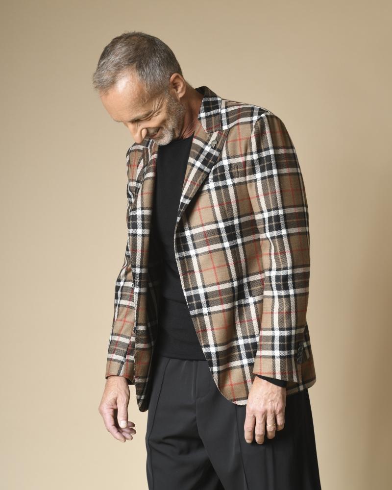 Veste en laine à motifs...