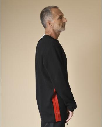 Sweat en coton à bande rouge Lost & Found