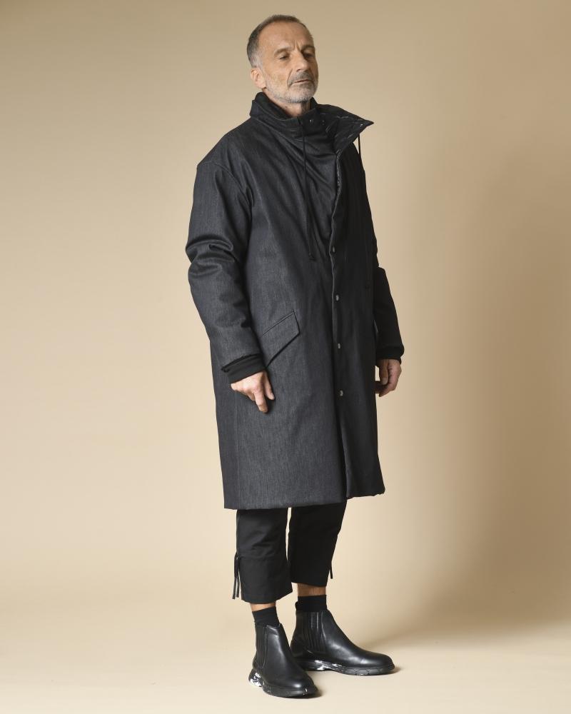 Manteau en jean réversible matelassé Lost & Found